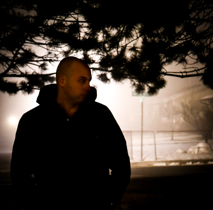 Photo of a man in the fog
